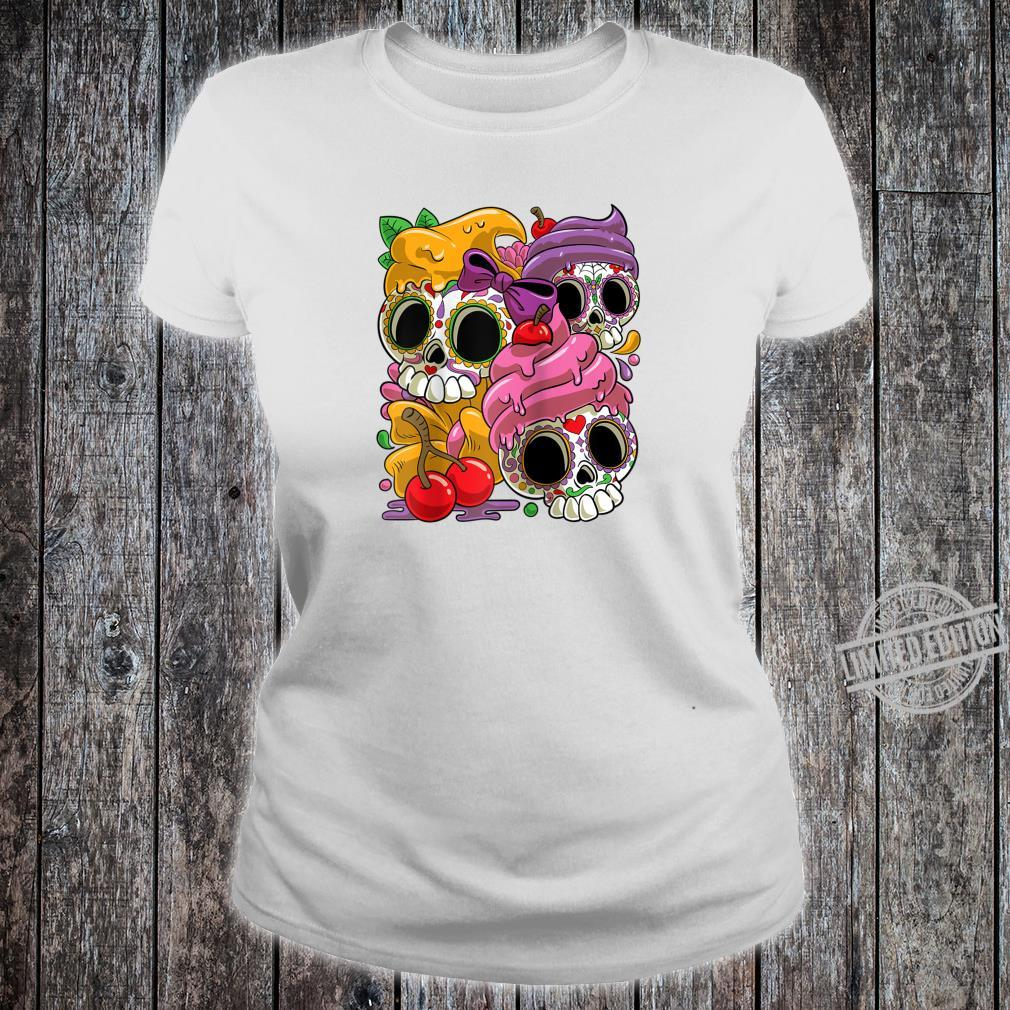 Cinco De Mayo and Day of the Dead Sugar Skulls Shirt ladies tee