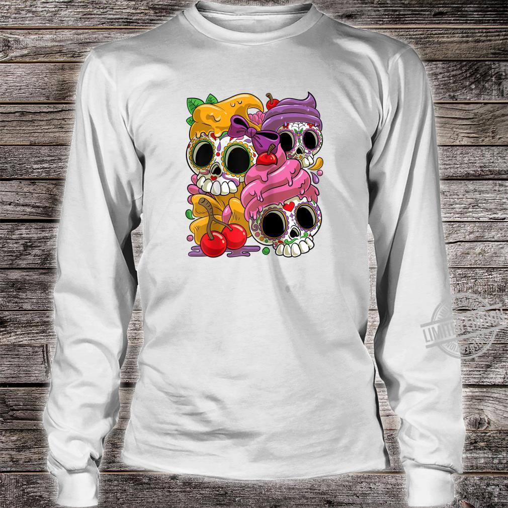 Cinco De Mayo and Day of the Dead Sugar Skulls Shirt long sleeved