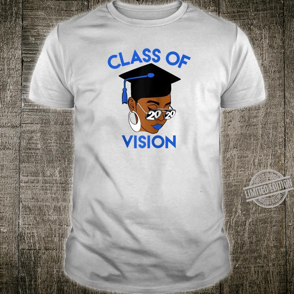 Class of 2020 Vision Graduation Black Educated Graduate 2020 Shirt