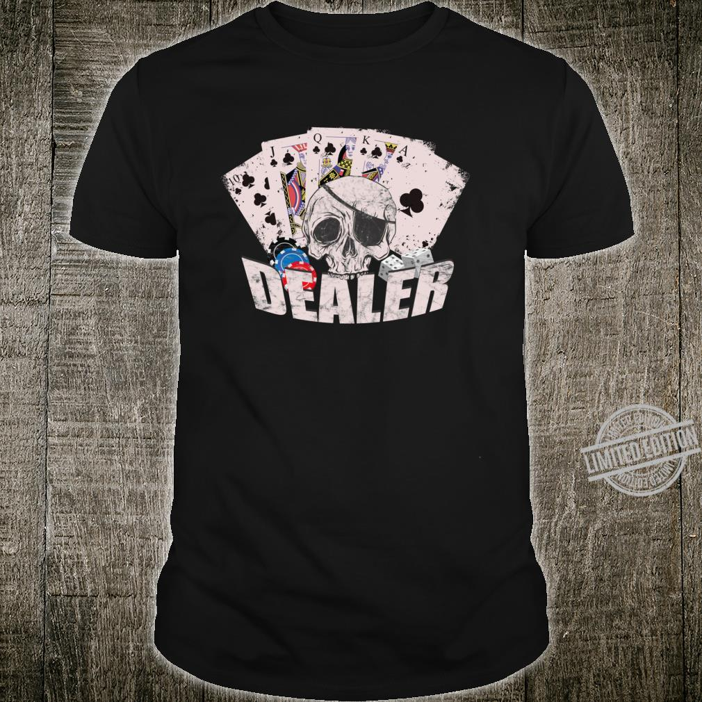 Coll Card game card playing skat poker double head skull fun Shirt