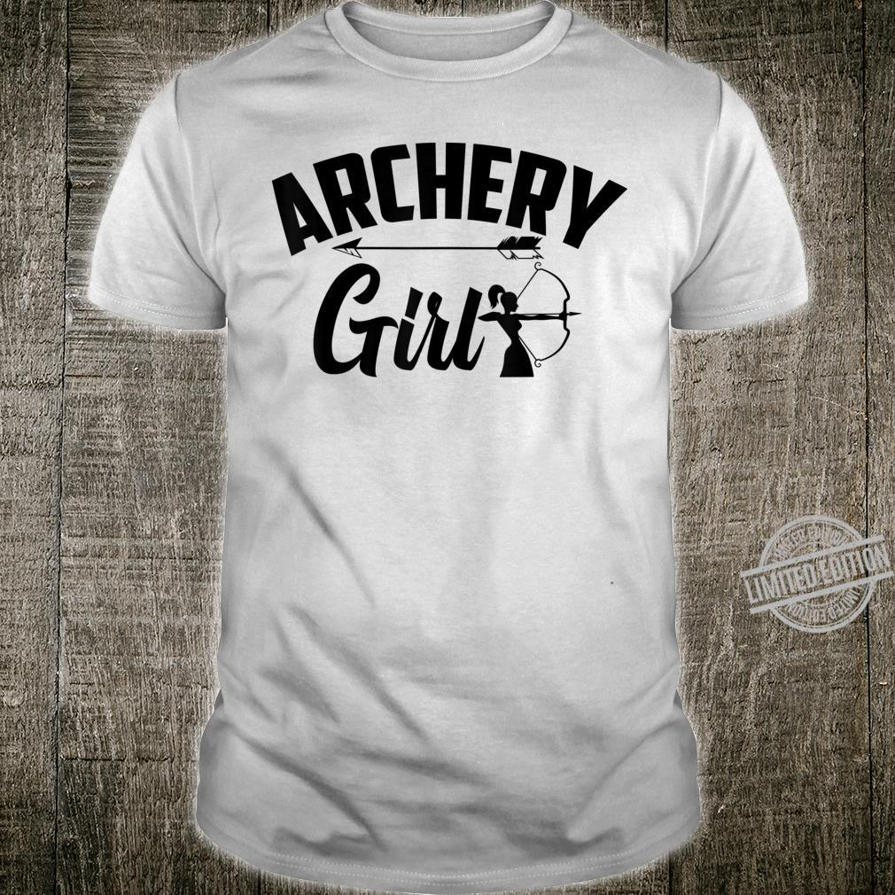 Cool Archery Girl Lady Athlete Crossbow Archers Shirt