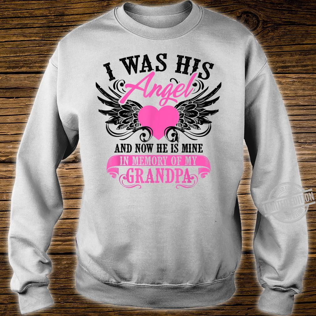 Cool I Was His Angel And Now He Is Mine Grandpa Shirt sweater