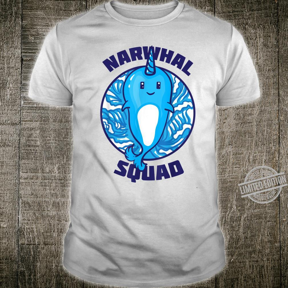Cool Narwhal Squad Birthday For Shirt