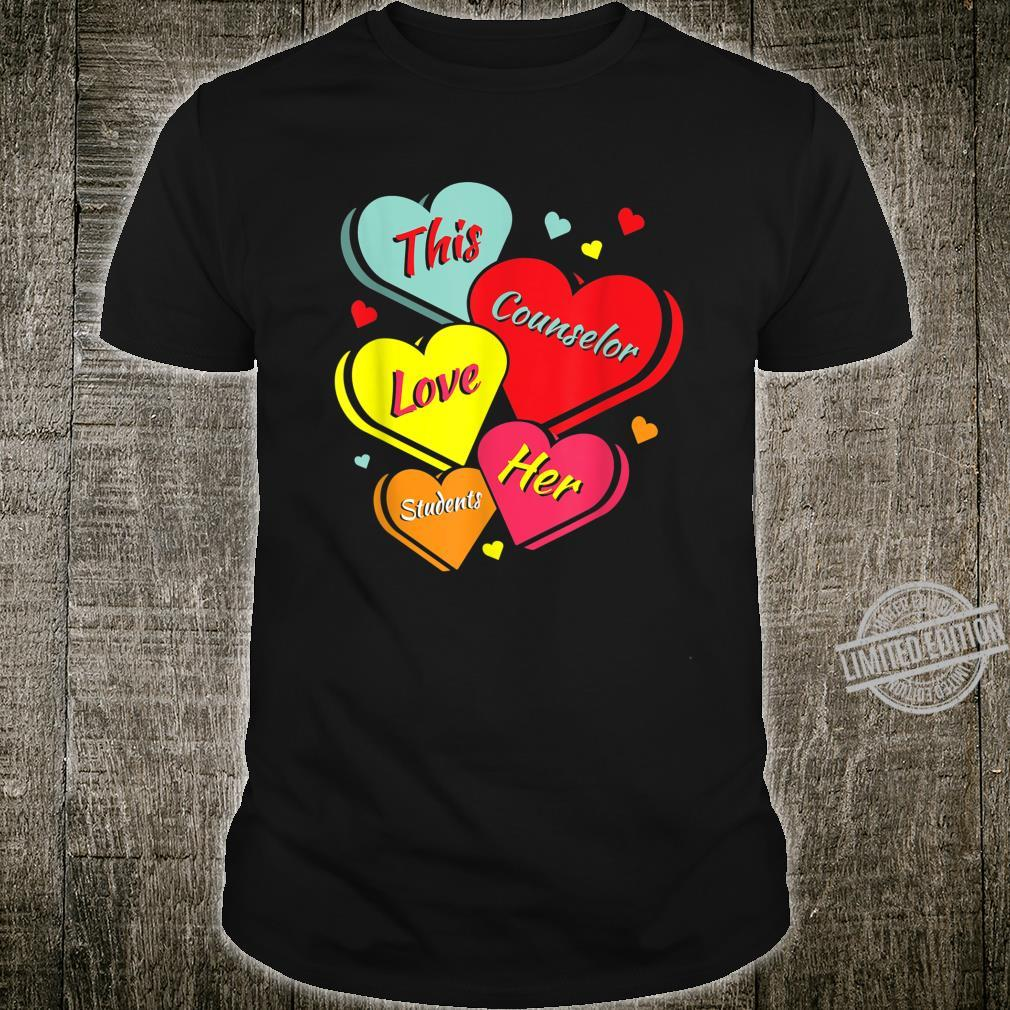 Counselor Valentine's Day Heart Shirt
