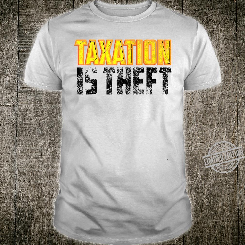 Cute Libertarian Anarchist Taxation Is Theft Shirt