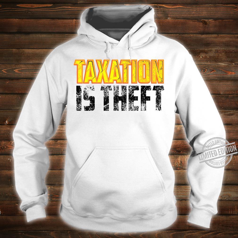 Cute Libertarian Anarchist Taxation Is Theft Shirt hoodie