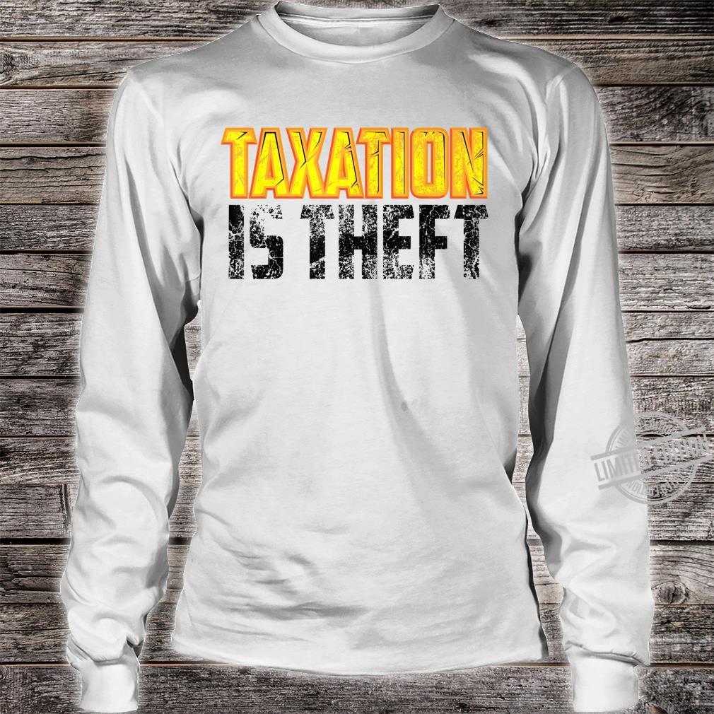 Cute Libertarian Anarchist Taxation Is Theft Shirt long sleeved