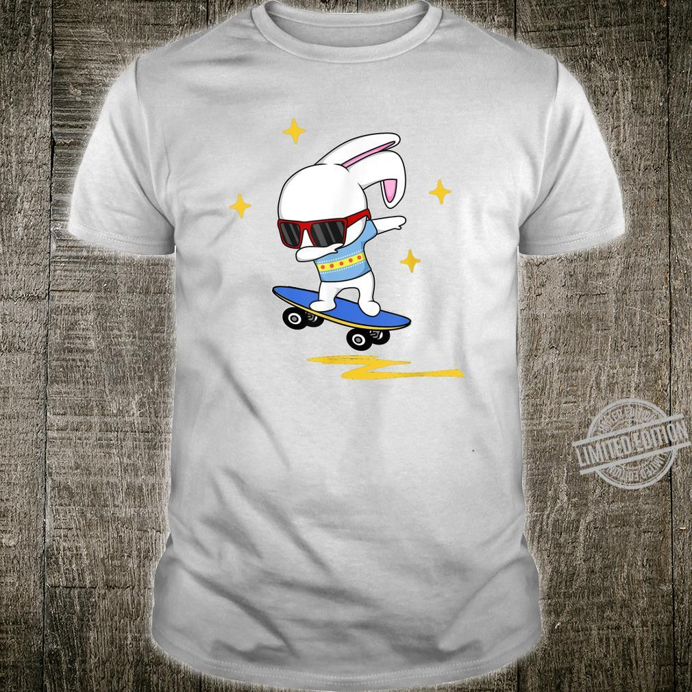 Dabbing Easter Bunny Rabbit Novelty Skater Jump And Flip Shirt