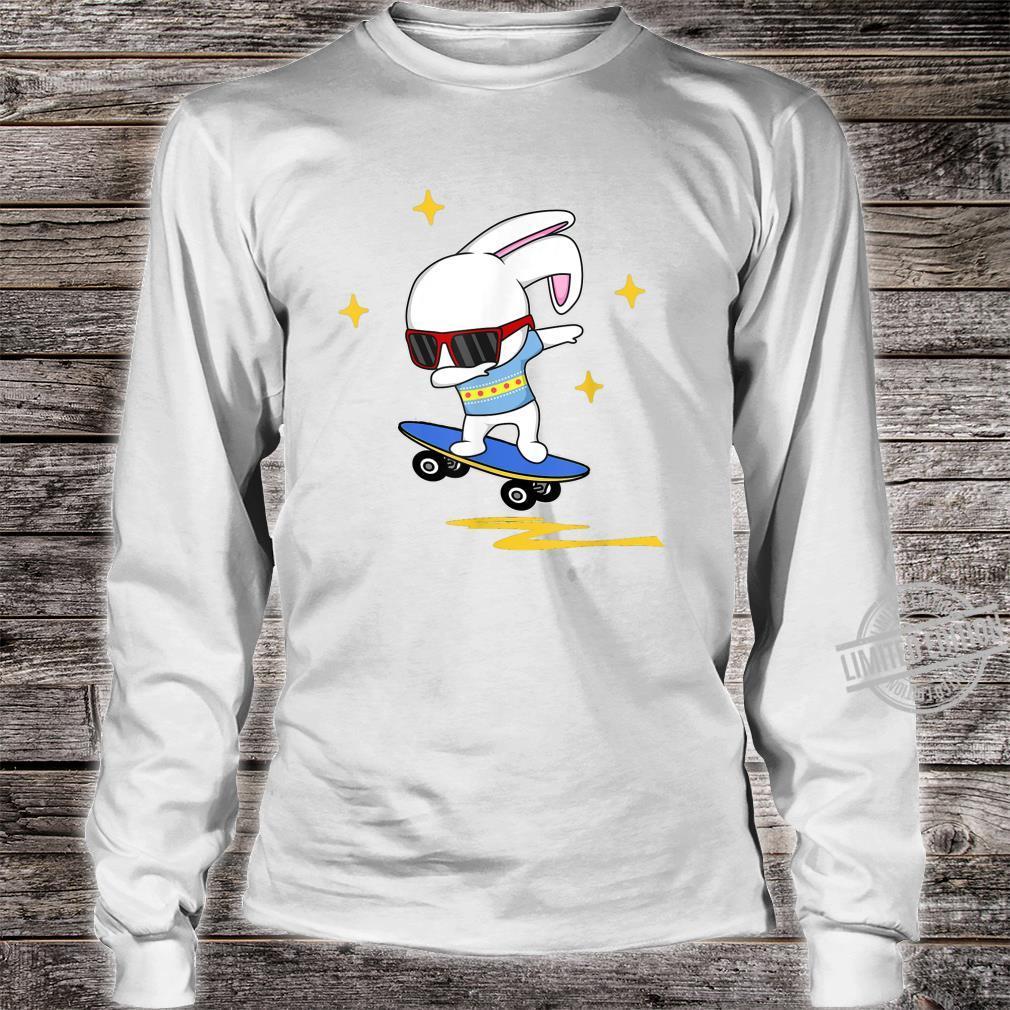 Dabbing Easter Bunny Rabbit Novelty Skater Jump And Flip Shirt long sleeved