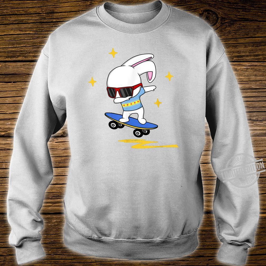 Dabbing Easter Bunny Rabbit Novelty Skater Jump And Flip Shirt sweater