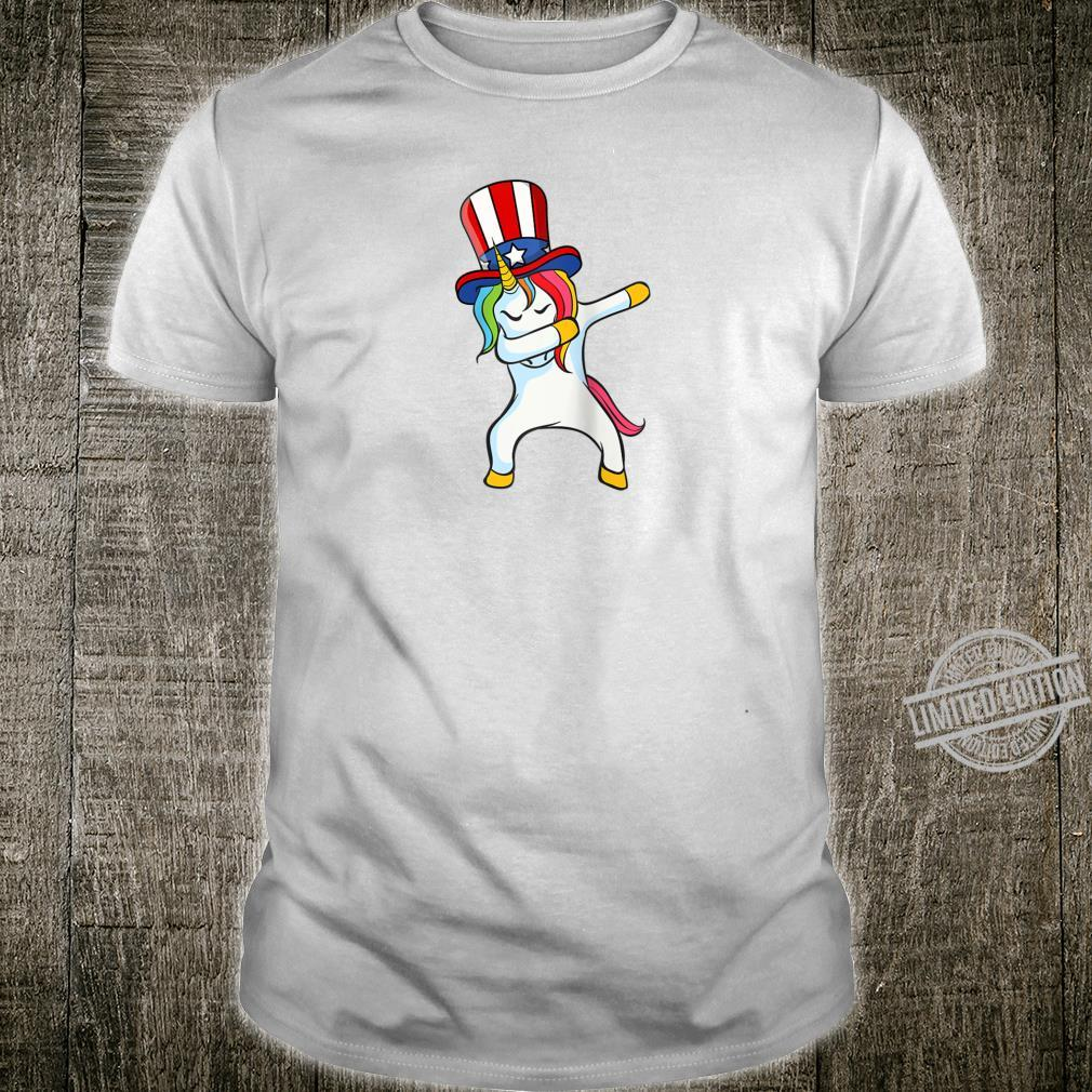 Dabbing Unicorn in Uncle Sam Hat Presidential Election 2020 Shirt