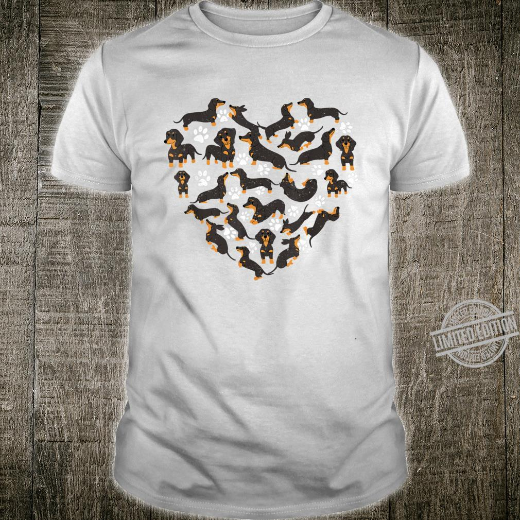 Dachshund Dogs Heart Valentine's Day Dogs Shirt