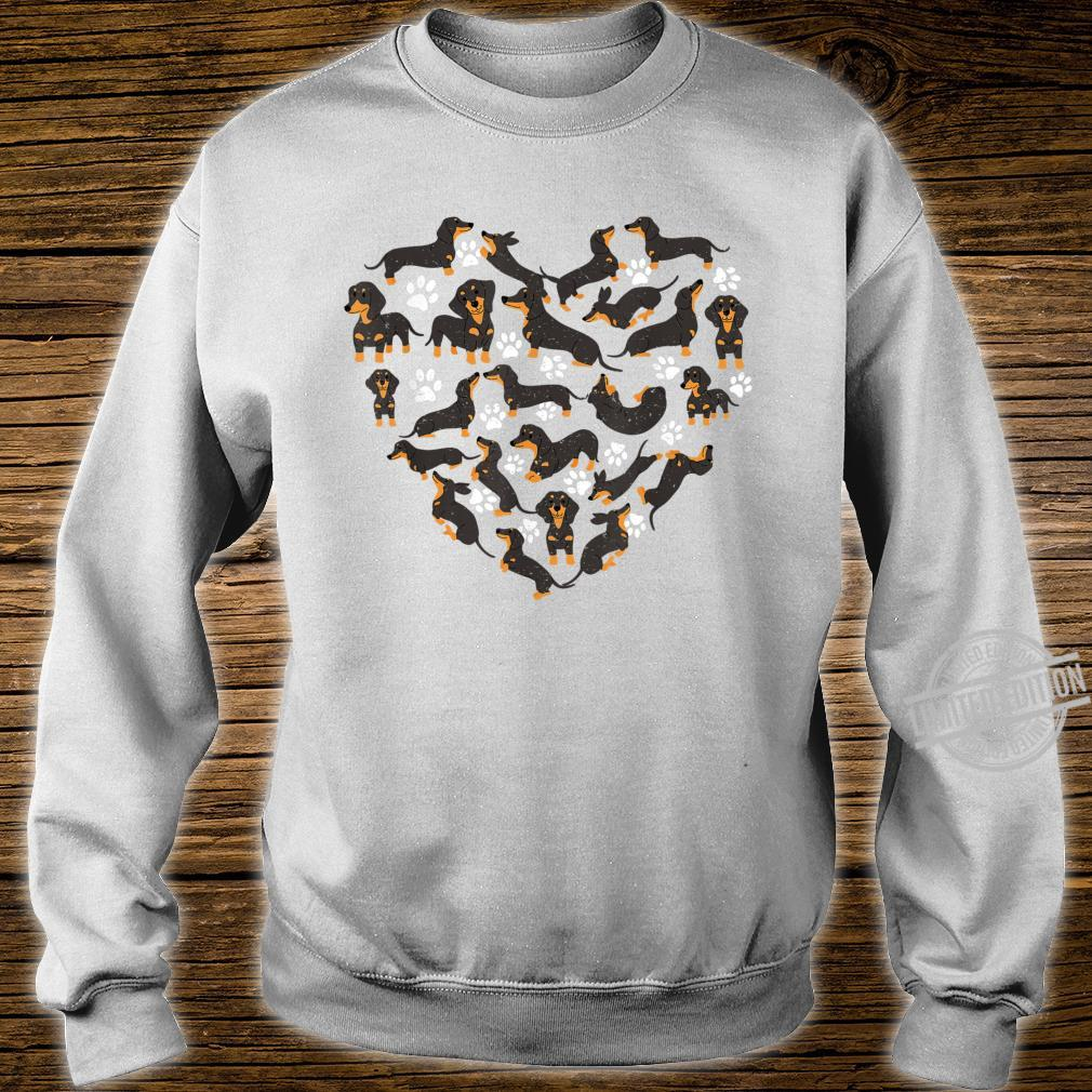 Dachshund Dogs Heart Valentine's Day Dogs Shirt sweater