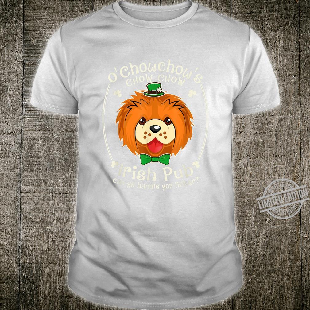 Funny Chow Chow Shamrock Irish Pub Patrick Shirt