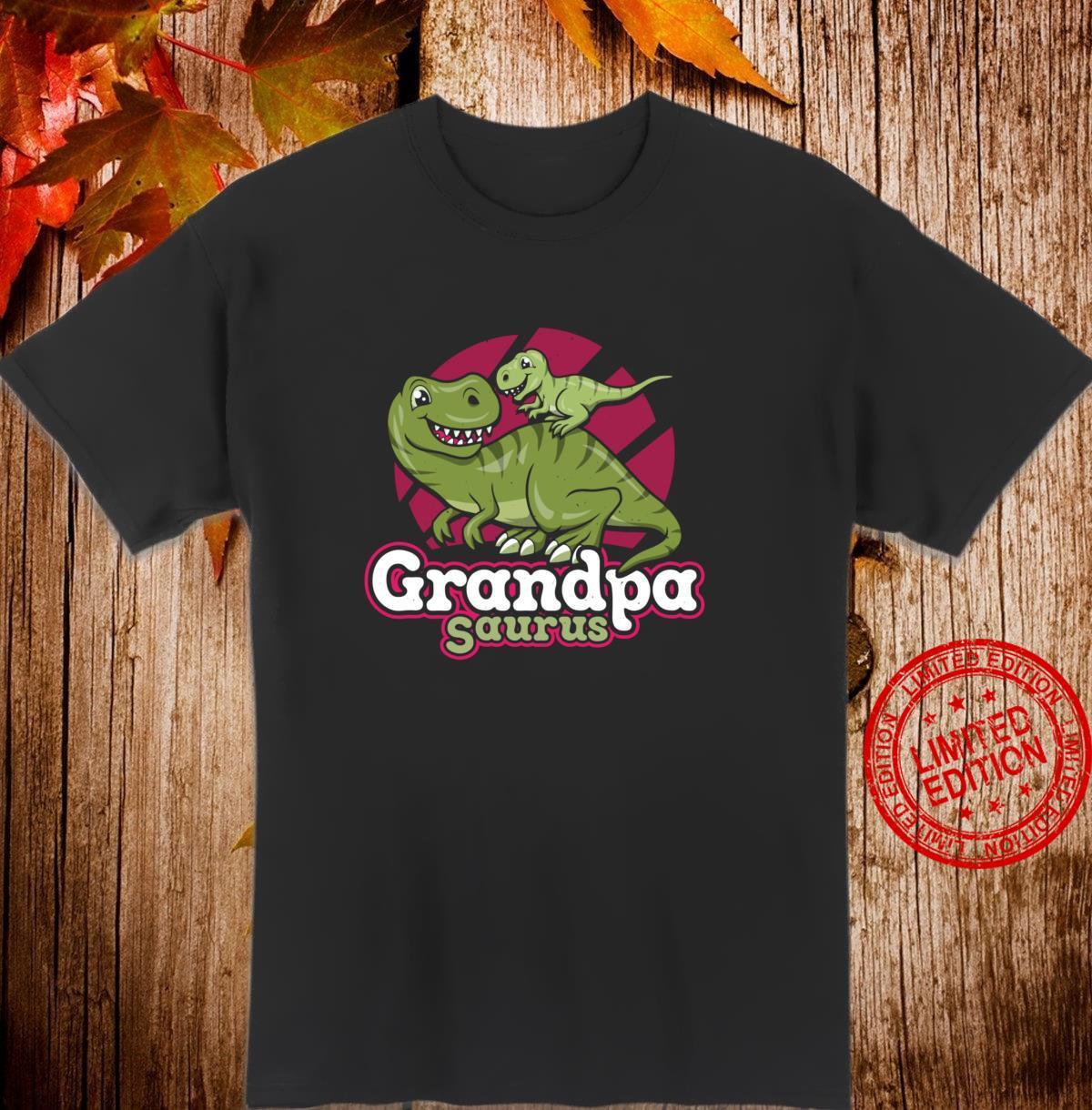 Funny Dinosaur Cute Father's Day Grandpasaurus Shirt