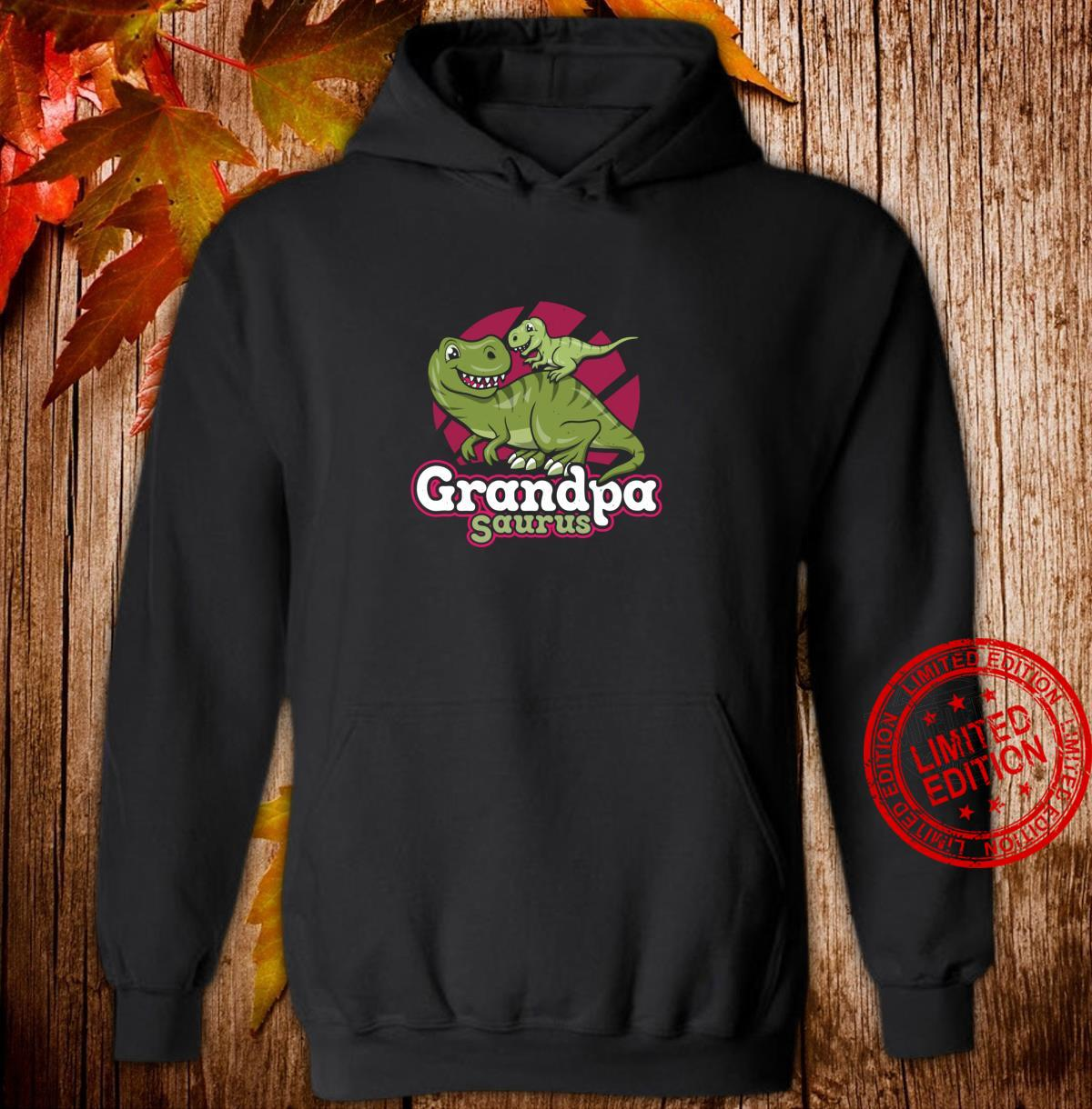 Funny Dinosaur Cute Father's Day Grandpasaurus Shirt hoodie