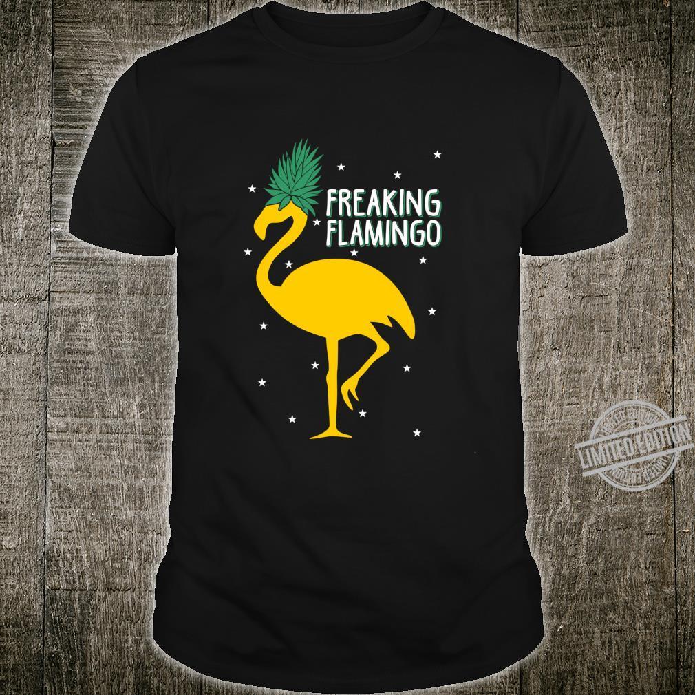 Funny Freaking Flamingo Marijuana Style Beautiful Design Shirt
