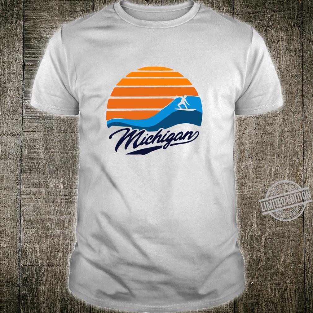Funny Muskegon Lake Michigan Surfer Shirt