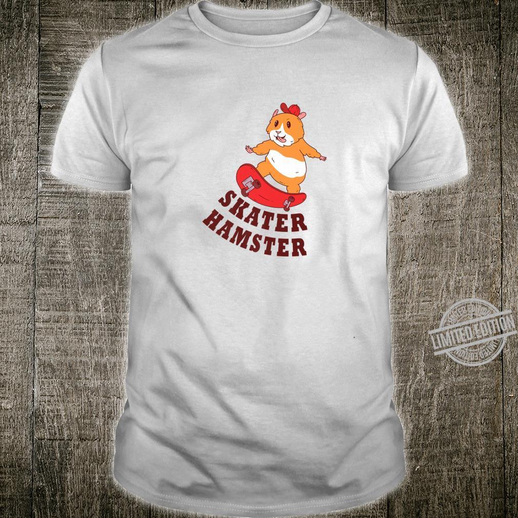 Funny Skater Hamster Design Shirt
