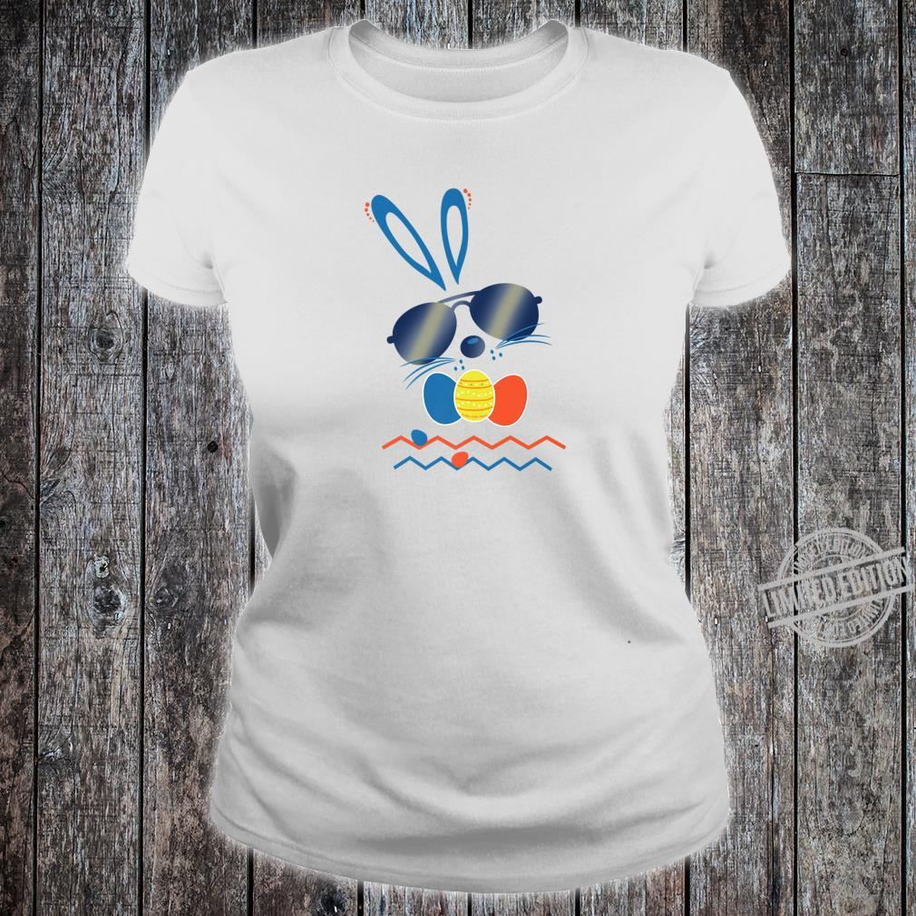 Funny and Cute Hip Hop Easter Bunny Rabbit Shirt ladies tee