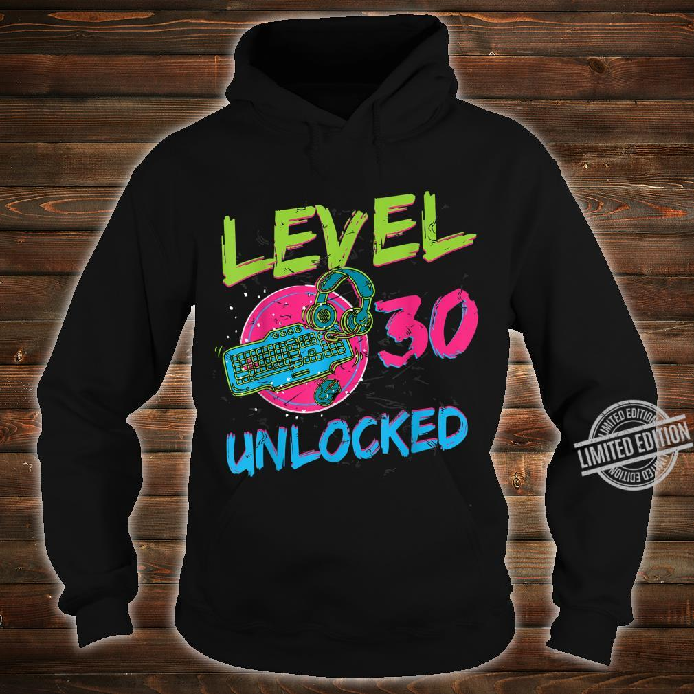 Gamer Level 30 Unlocked Birthday WASD PC Video Gaming Shirt hoodie