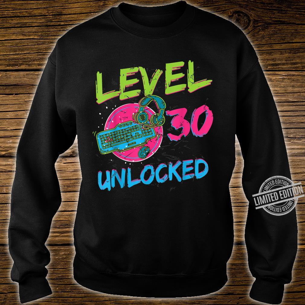 Gamer Level 30 Unlocked Birthday WASD PC Video Gaming Shirt sweater