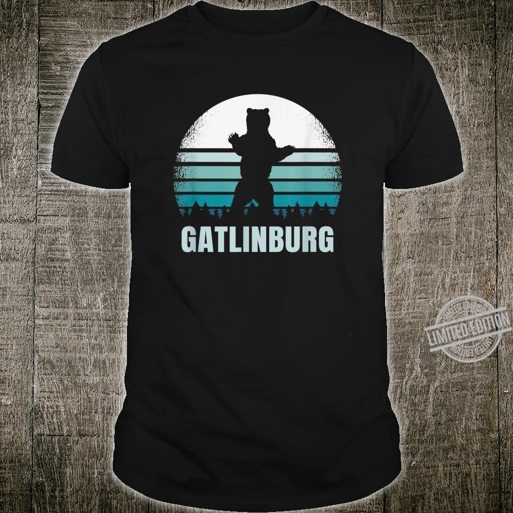 Gatlinburg Tennessee Vintage Bear TN Distressed 80s Sunset Shirt