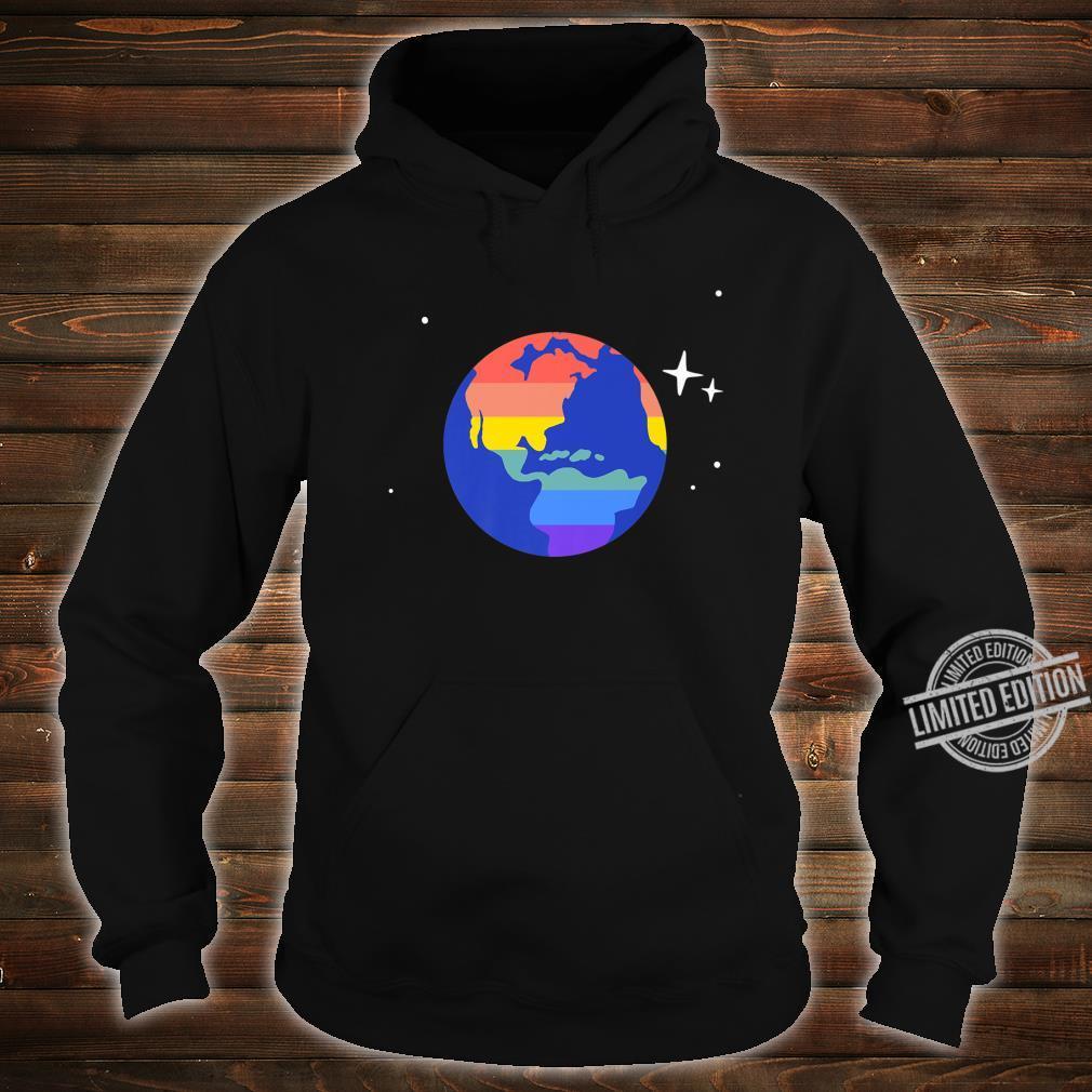 Gay & Lesbian Planet Earth LGBTQ Pride Flag Aesthetic Space Shirt hoodie