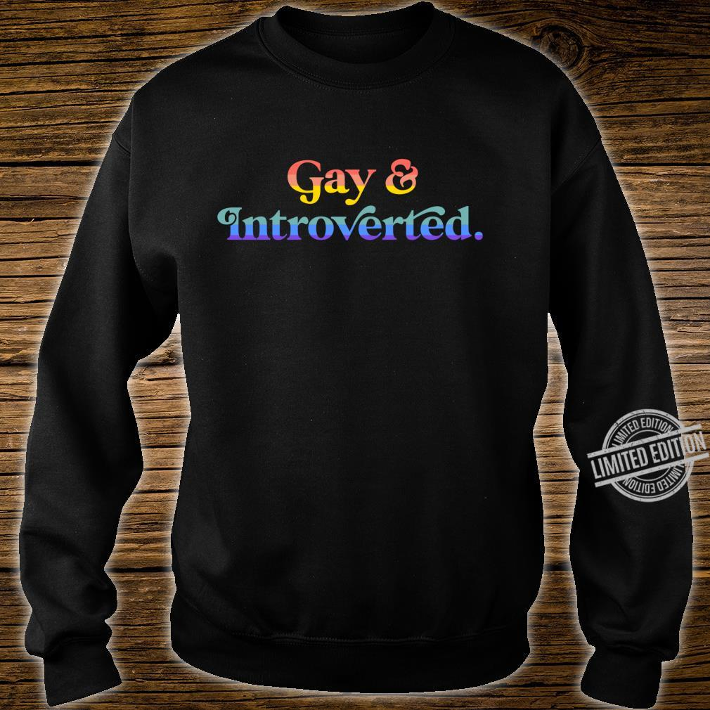 Gay And Introverted Aesthetic Lesbian LGBTQ Pride Flag Shirt sweater