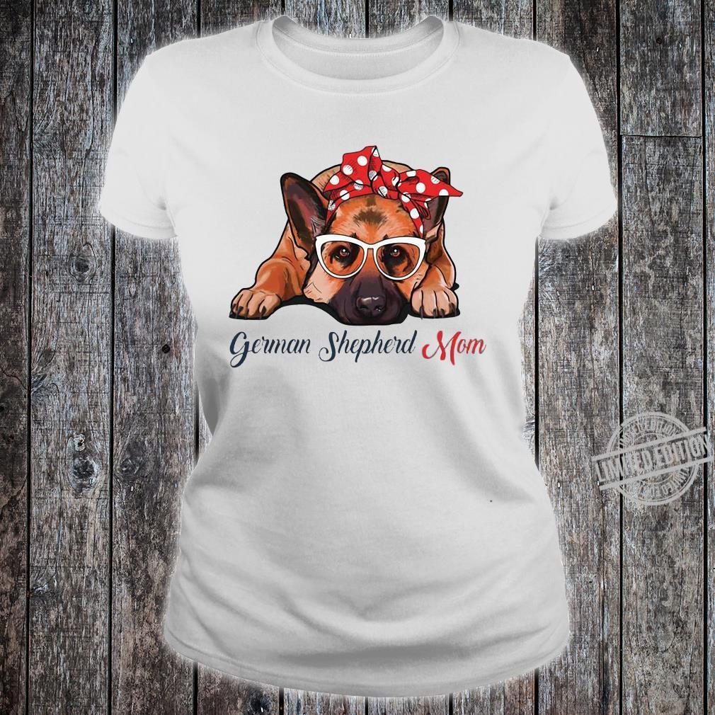 German shepherd mom shirt ladies tee