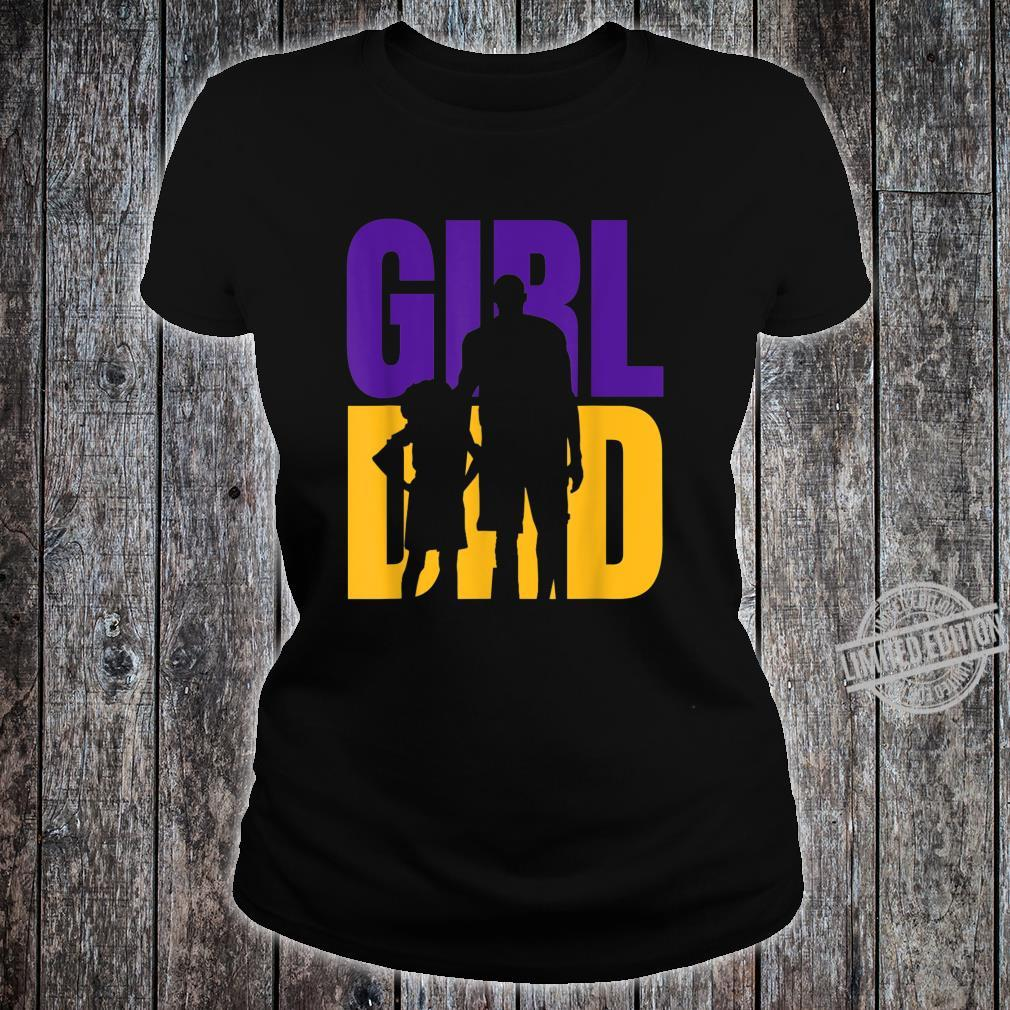 #GirlDad Girl Dad Proud Father of Daughters Cute Fathers Day Shirt ladies tee