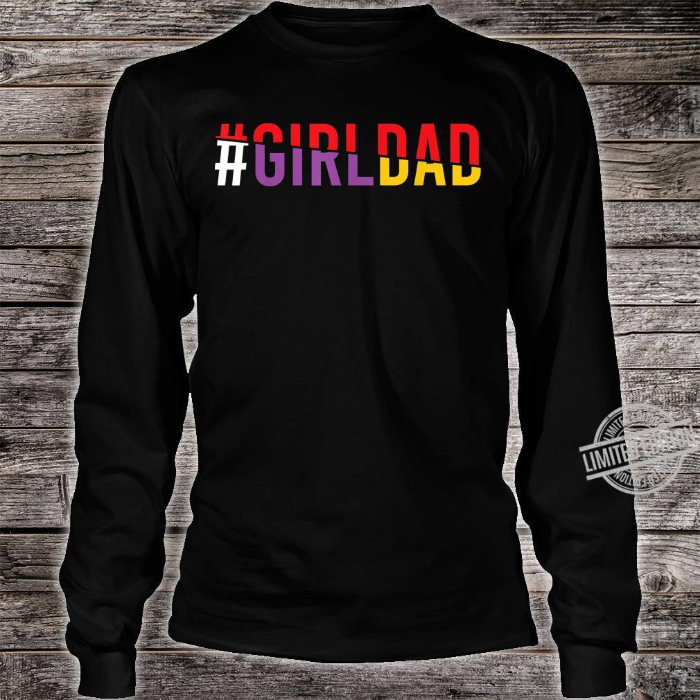 #Girldad Girl Dad Vintage Apparel Shirt long sleeved