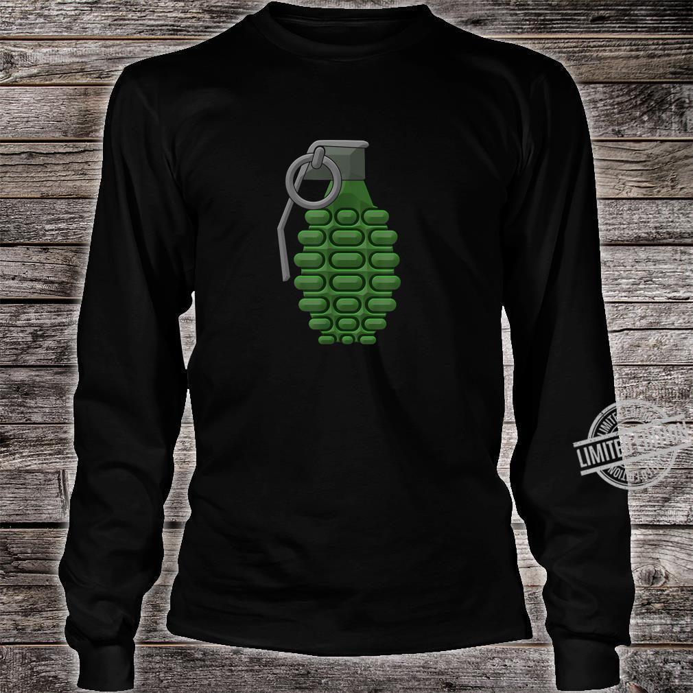 Hand Grenade Shirt Gaming Gamer Shirt long sleeved