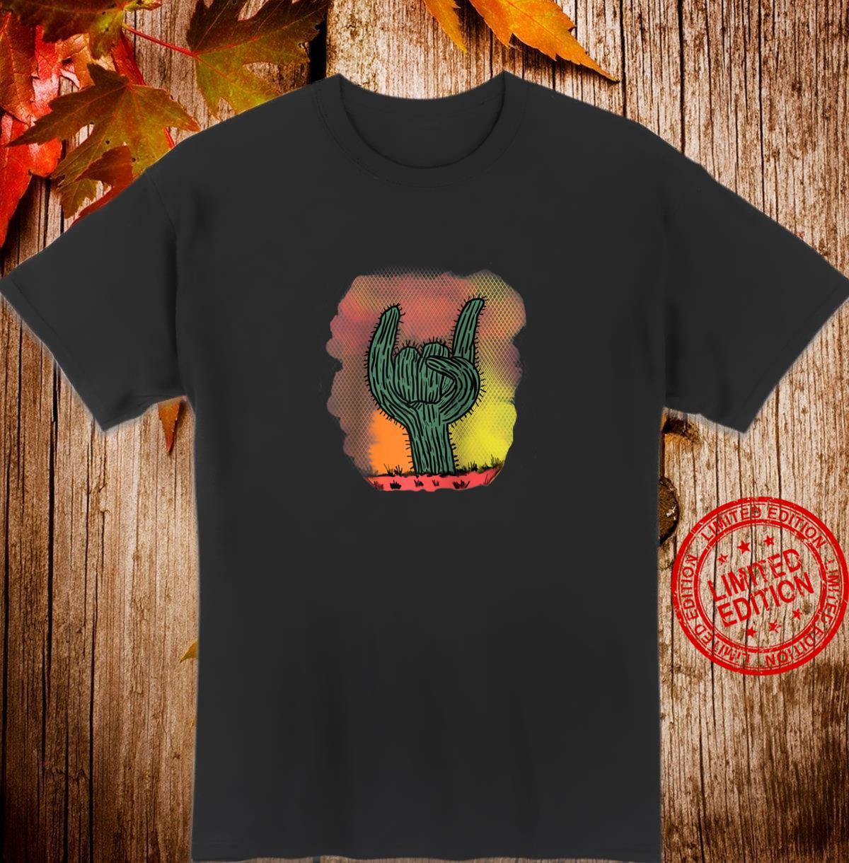HandDrawn Cactus Watercolor Background Boho Cacti Shirt