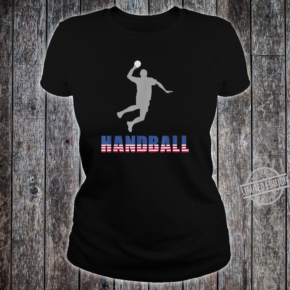 Handball Game Ball Team Court Player Coaching Shirt ladies tee