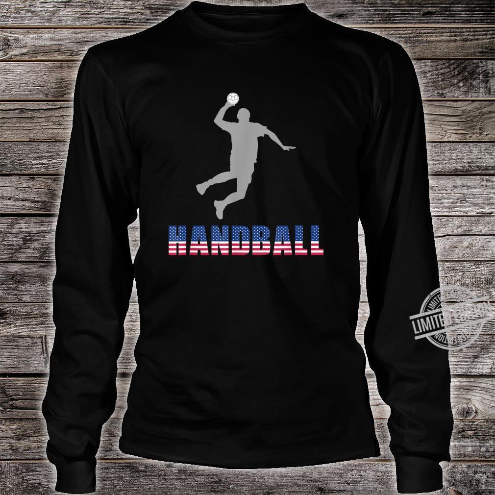 Handball Game Ball Team Court Player Coaching Shirt long sleeved