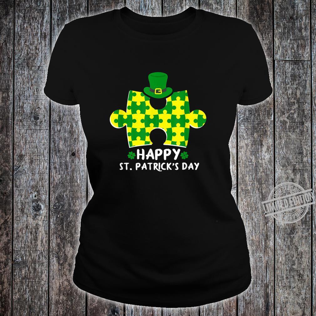 Happy St. Patrick's Day Autism Shirt ladies tee