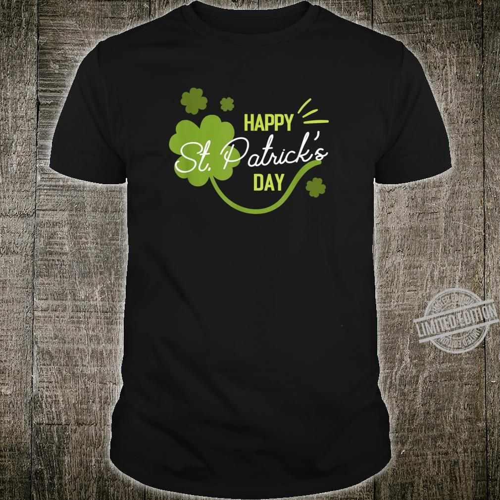 Happy St. Patricks Day Cute Shamrock Lucky Irish Shirt