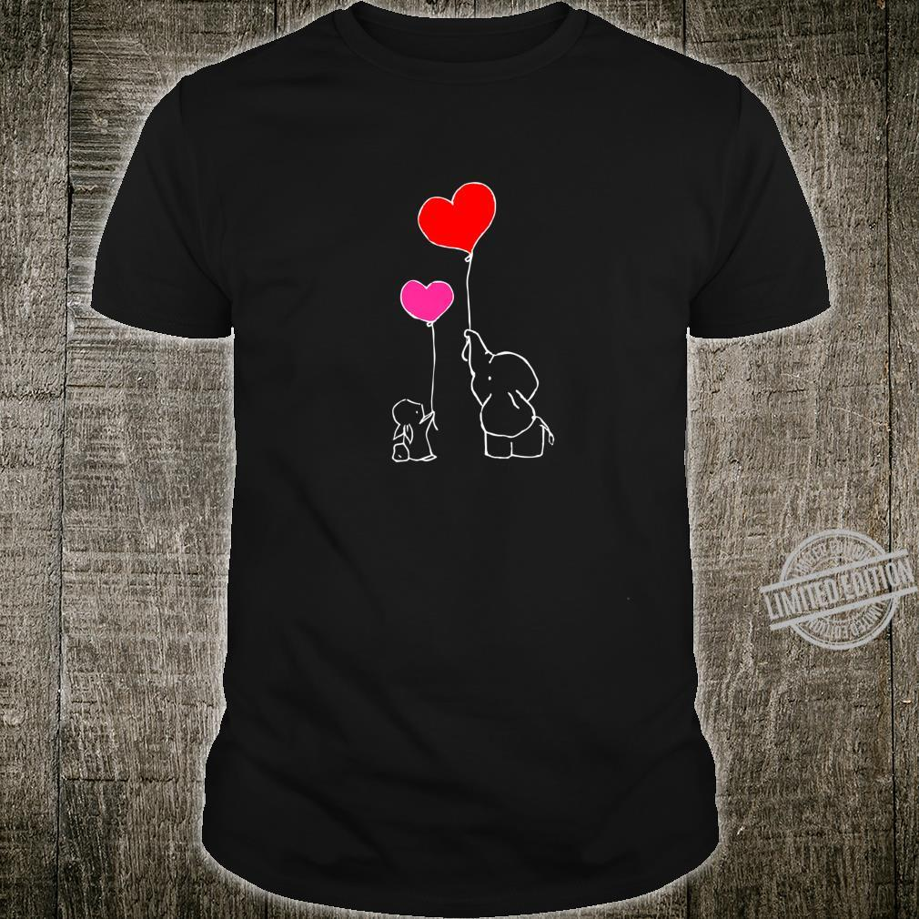 Heart Balloons for Valentine's Cute Bunny & Elephant Shirt