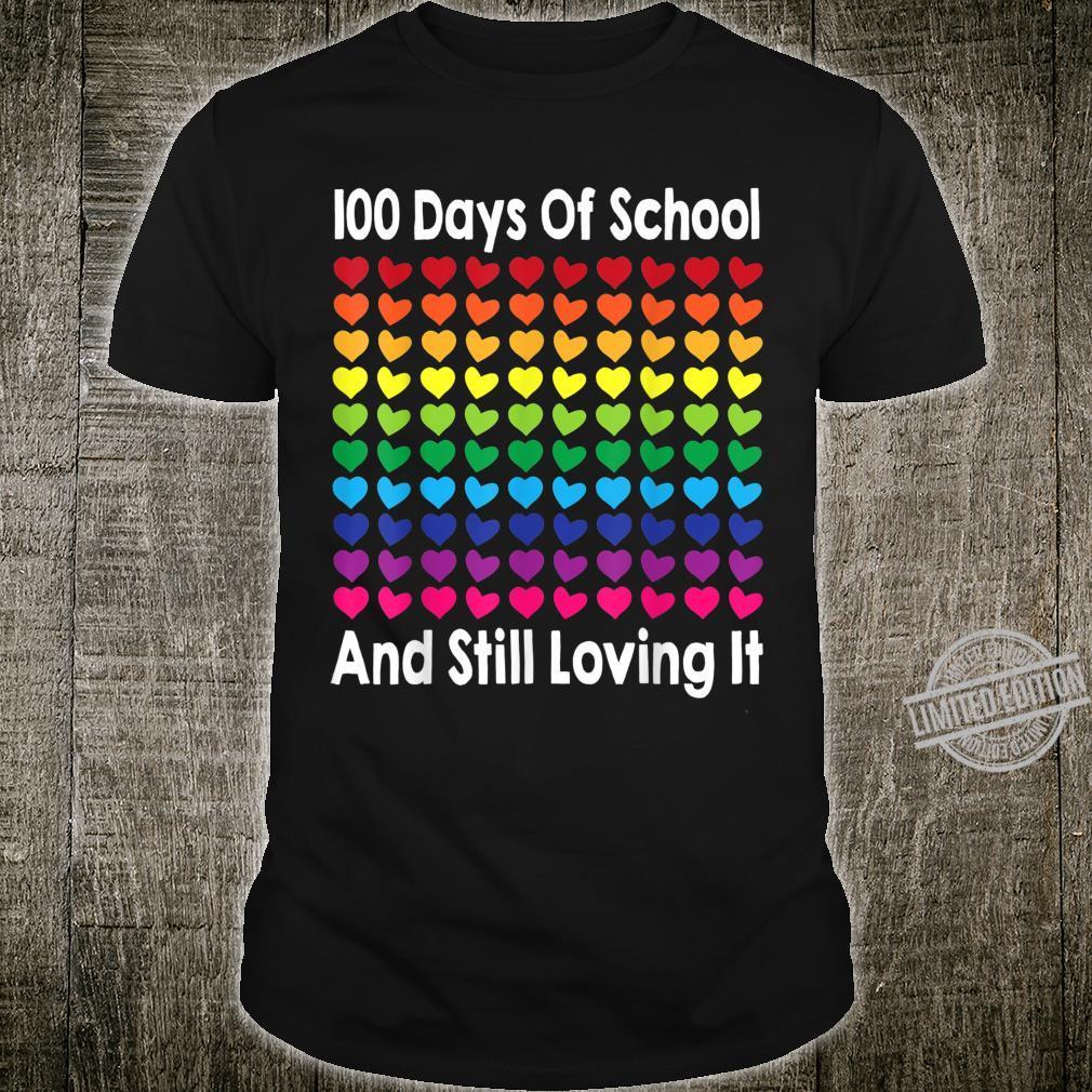 Heart Love 100 Days Of School Teacher Boy Girl Shirt
