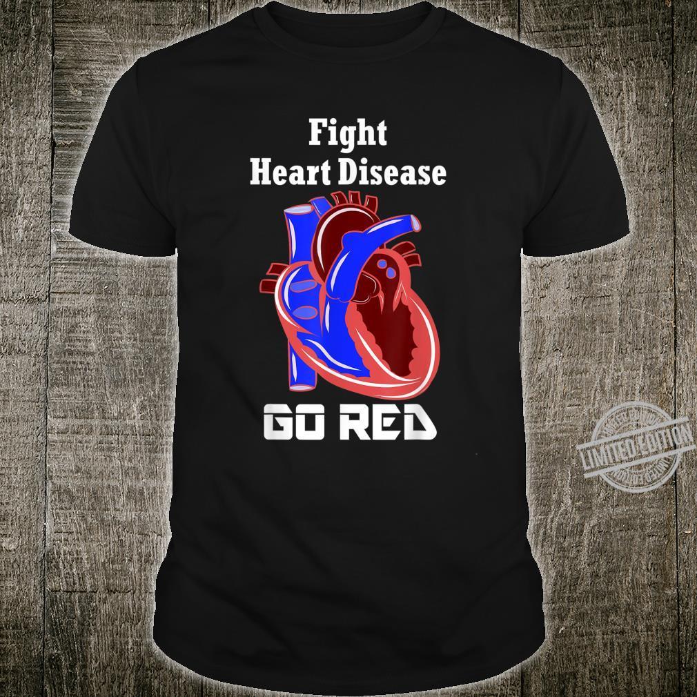 Heart Month Go Red American Cardiac Health Heart Month Shirt