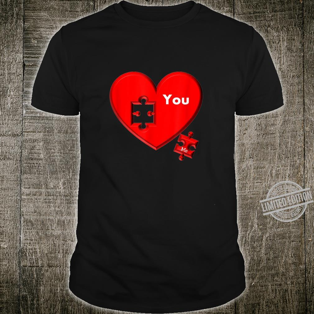 Heart Puzzle You And Me Shirt