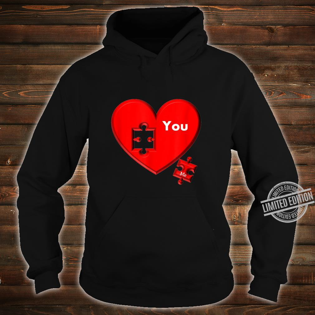 Heart Puzzle You And Me Shirt hoodie