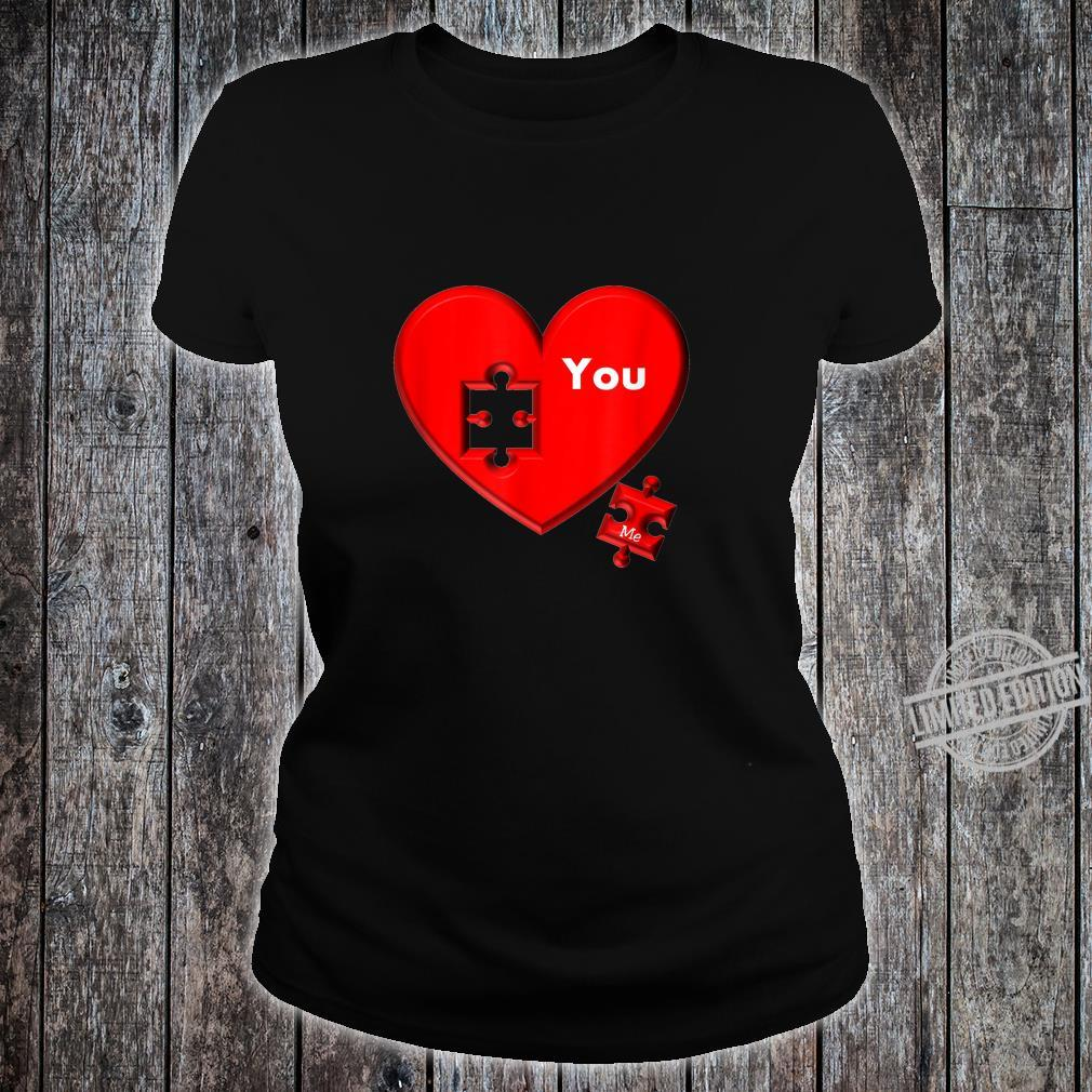 Heart Puzzle You And Me Shirt ladies tee