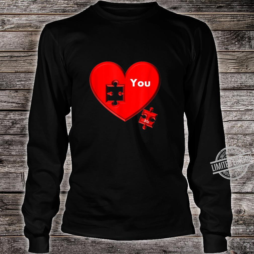 Heart Puzzle You And Me Shirt long sleeved