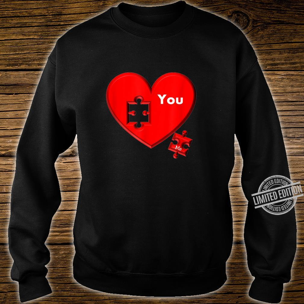 Heart Puzzle You And Me Shirt sweater
