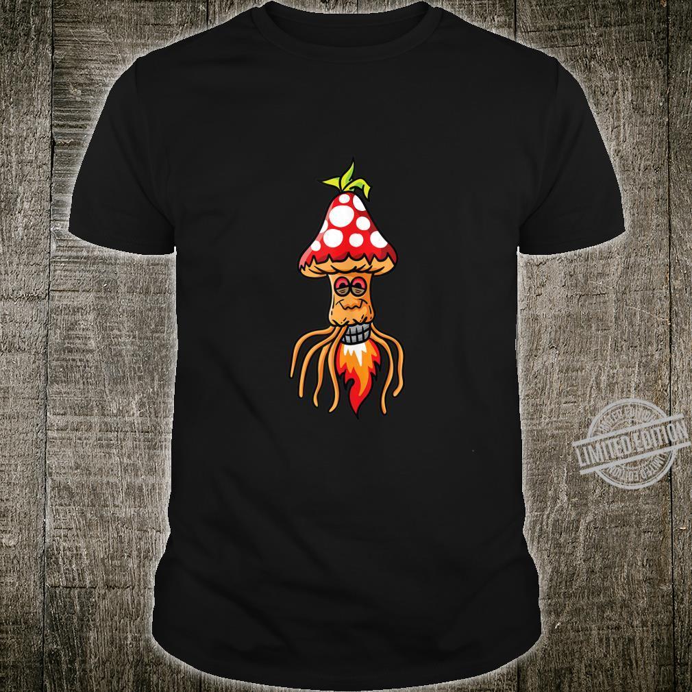 Hippie Magic Mushrooms Pychedelic Shrooms Psilocybin Fungi Shirt