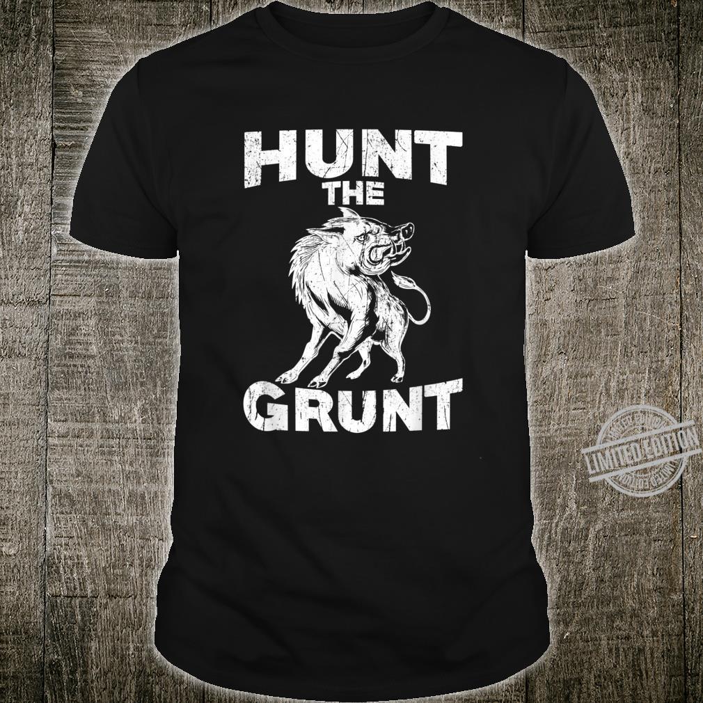 Hog Hunting Wild Hunt The Grunt Vintage Pig Shirt