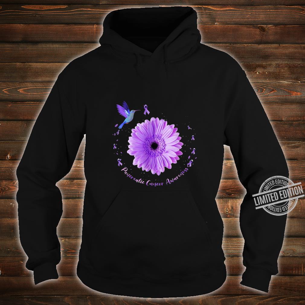 Hummingbird Purple Sunflower Pancreatic Cancer Awareness Shirt hoodie
