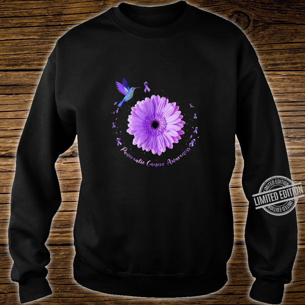 Hummingbird Purple Sunflower Pancreatic Cancer Awareness Shirt sweater